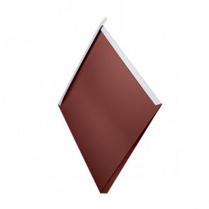 Декоративная панель «Металлошашка» (354/354) полиэстер 0,7 RAL 3009 (красная окись)