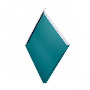 Декоративная панель «Металлошашка» (354/354) полиэстер 0,7 RAL 5021 (водная синь)