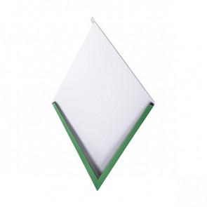 Декоративная панель «Металлошашка» (354/354) полиэстер 0,45 RAL 6002 (лиственно-зеленый)