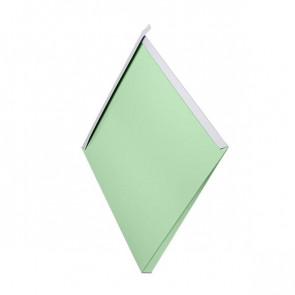 Декоративная панель «Металлошашка» (354/354) полиэстер 0,7 RAL 6019 (бело-зеленый)