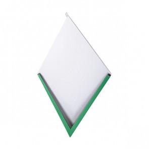 Декоративная панель «Металлошашка» (354/354) полиэстер 0,45 RAL 6029 (мятно-зеленый)