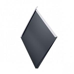 Декоративная панель «Металлошашка» (354/354) полиэстер 0,45 RAL 7024 (графитовый серый)