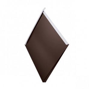 Декоративная панель «Металлошашка» (354/354) глянец 0,55 RAL 8017 (шоколадно-коричневый)