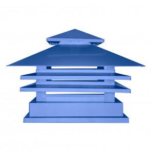 Дымник двухъярусный с дефлектором RAL 5005 (сигнальный синий) (Дымники)