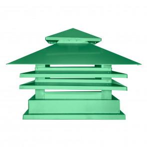 Дымник двухъярусный с дефлектором RAL 6029 (мятно-зеленый) (Дымники)