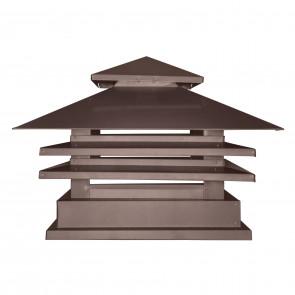 Дымник двухъярусный с дефлектором RAL 8017 (шоколадно-коричневый) (Дымники)