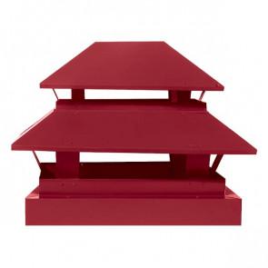 Дымник простой двухъярусный RAL 3003 (рубиново-красный)
