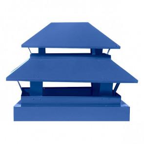 Дымник простой двухъярусный RAL 5005 (сигнальный синий)