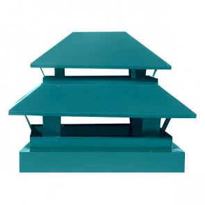 Дымник простой двухъярусный RAL 5021 (водная синь)