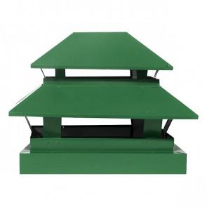Дымник простой двухъярусный RAL 6002 (лиственно-зеленый)