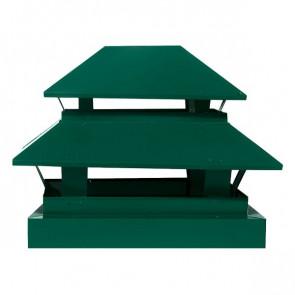 Дымник простой двухъярусный RAL 6005 (зеленый мох)