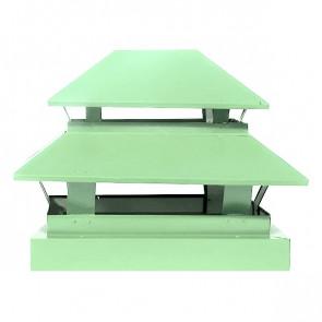 Дымник простой двухъярусный RAL 6019 (бело-зеленый)