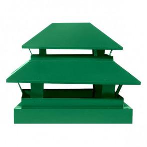 Дымник простой двухъярусный RAL 6029 (мятно-зеленый)