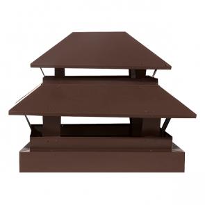Дымник простой двухъярусный RAL 8017 (шоколадно-коричневый)