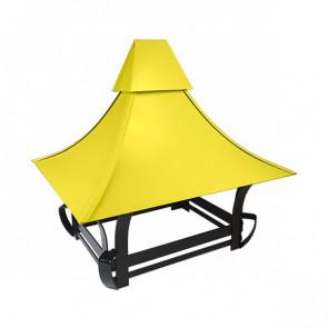 Дымник кованый RAL 1018 (цинково-желтый)