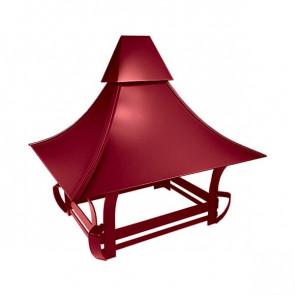 Дымник кованый RAL 3003 (рубиново-красный)