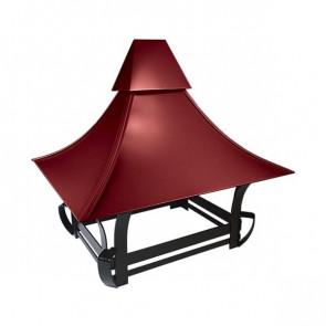Дымник кованый RAL 3011 (коричнево-красный)