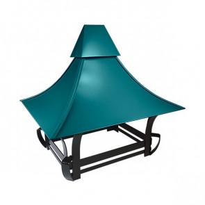 Дымник кованый RAL 5021 (водная синь)