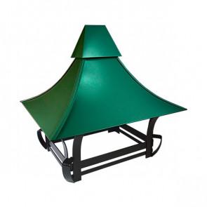 Дымник кованый RAL 6029 (мятно-зеленый)