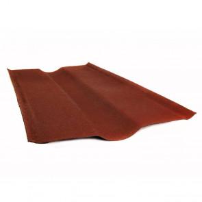 Ендова элемент кровли для черепицы Ондулин (250*250*1000) цвет красный