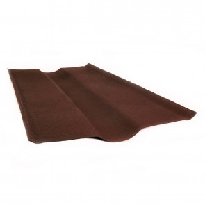 Ендова элемент кровли для черепицы Ондулин (250*250*1000) цвет коричневый