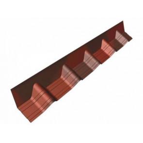 Конек (основание), покрывающий фартук для черепицы Ондувилла (140*1020) цвет красный 3D