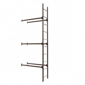 Лестница фасадная BORGE нижняя секция 3000 мм RAL 8017 (шоколадно-коричневый) в комплекте