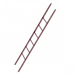 Лестница фасадная BORGE секция 1800 мм RAL 3005 (винно-красный)