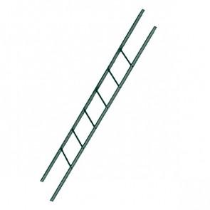 Лестница фасадная BORGE секция 1800 мм RAL 6005 (зеленый мох)