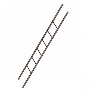 Лестница фасадная BORGE секция 1800 мм RAL 8017 (шоколадно-коричневый)