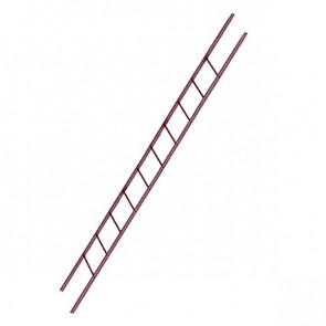 Лестница фасадная BORGE секция 3000 мм RAL 3005 (винно-красный)