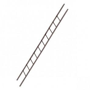 Лестница фасадная BORGE секция 3000 мм RAL 8017 (шоколадно-коричневый)