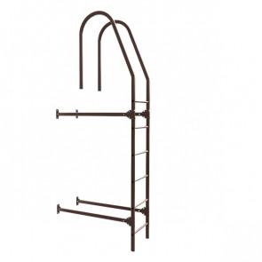 Лестница фасадная BORGE верхняя секция 1800 мм RAL 8017 (шоколадно-коричневый) в комплекте