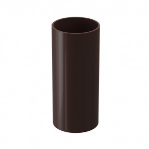 Труба водосточная DOCKE Premium D 85,73*3000, шоколад