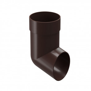 Колено сливное (наконечник, отвод) D 85 DOCKE Premium, шоколад