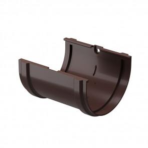 Соединитель желоба D 120 DOCKE Premium, шоколад