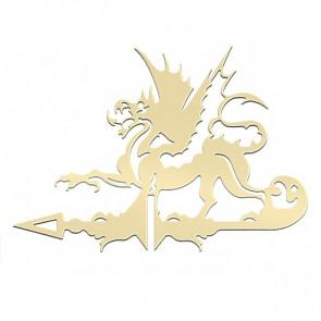 Флюгер «ДРАКОН» 01-016 (700*800) RAL 1014 (слоновая кость)