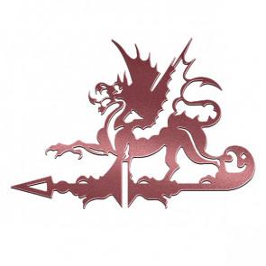 Флюгер «ДРАКОН» 01-016 (700*800) RAL 3005 (винно-красный)