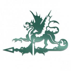 Флюгер «ДРАКОН» 01-016 (700*800) RAL 6005 (зеленый мох)
