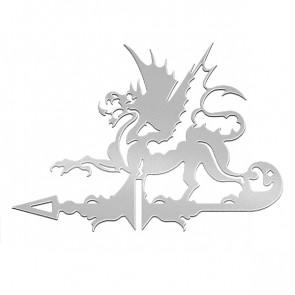 Флюгер «ДРАКОН» 01-016 (700*800) RAL 7004 (сигнальный серый)