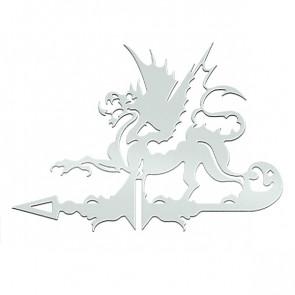 Флюгер «ДРАКОН» 01-016 (700*800) RAL 9003 (сигнальный белый)