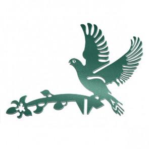 Флюгер «ГОЛУБИ» 01-012 (700*800) RAL 6005 (зеленый мох)