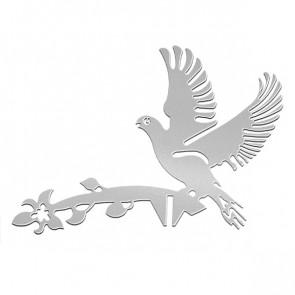 Флюгер «ГОЛУБИ» 01-012 (700*800) RAL 7004 (сигнальный серый)