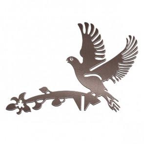 Флюгер «ГОЛУБИ» 01-012 (700*800) RAL 8017 (шоколадно-коричневый)