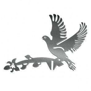Флюгер «ГОЛУБИ» 01-012 (700*800) RAL 9005 (черный)