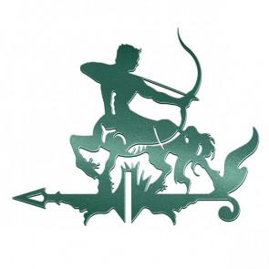 Флюгер «КЕНТАВР-1» 01-020 (700*800) RAL 6005 (зеленый мох)
