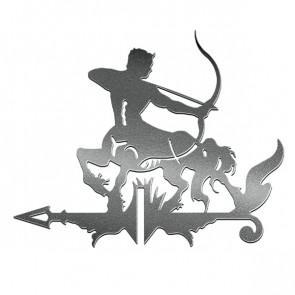 Флюгер «КЕНТАВР-1» 01-020 (700*800) RAL 9005 (черный)