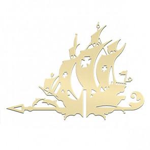 Флюгер «КОРАБЛЬ ЖЕМЧУЖИНА» 01-018 (700*800) RAL 1014 (слоновая кость)