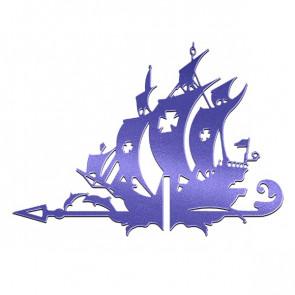 Флюгер «КОРАБЛЬ ЖЕМЧУЖИНА» 01-018 (700*800) RAL 5002 (ультрамарин)
