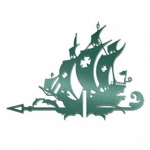Флюгер «КОРАБЛЬ ЖЕМЧУЖИНА» 01-018 (700*800) RAL 6005 (зеленый мох)